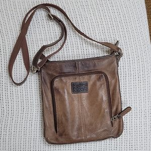 Fossil Vintage Brown Leather Crossbody Bag